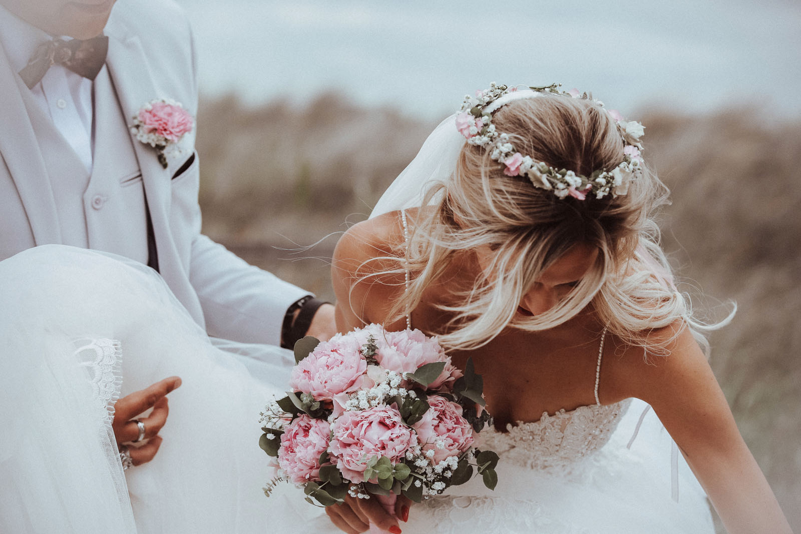 Hochzeitsfotograf Hamburg, Braut mit Brautstrauß